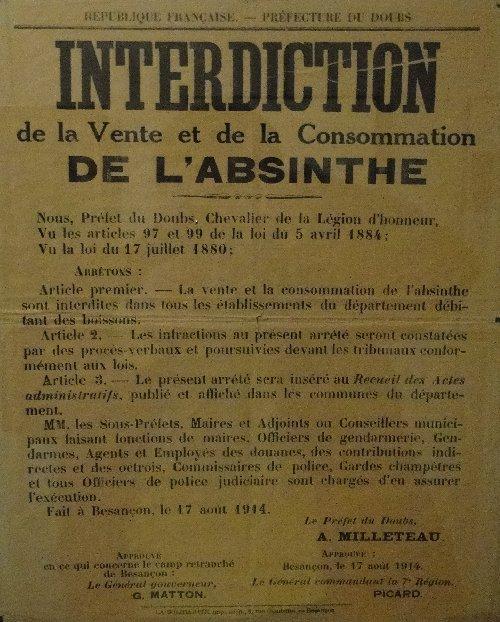La Fée Verte - La route de l'absinthe - 8 mai 2012 Interdit