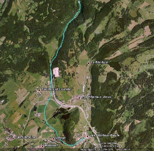 Le Coni-Fer - 9 août 2010 Carte