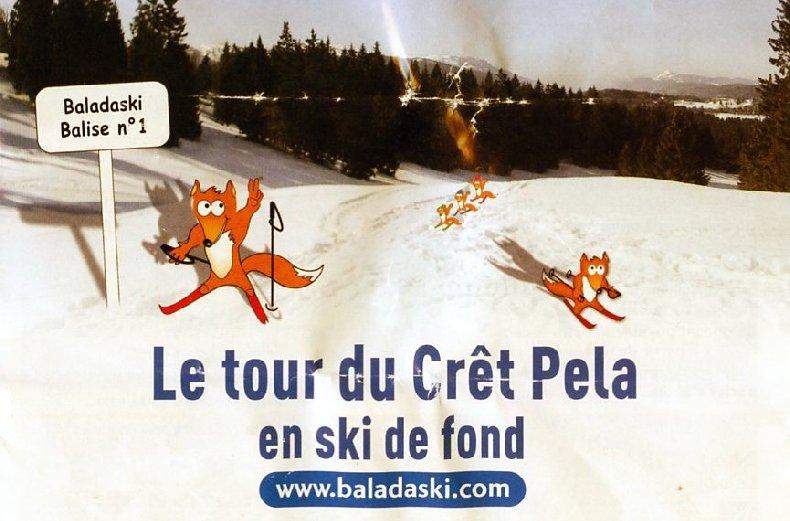 """Une """"baladaski"""" d'Hélène - Le tour du Mont Pela - 20 février 2010 Titre"""