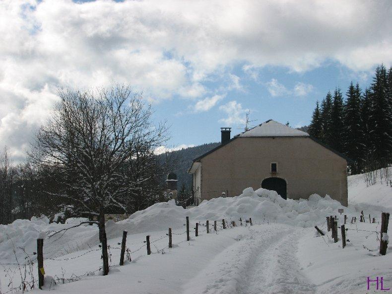 Dimanche de neige dans la vallée de la Valserine - 7 février 2010 0002