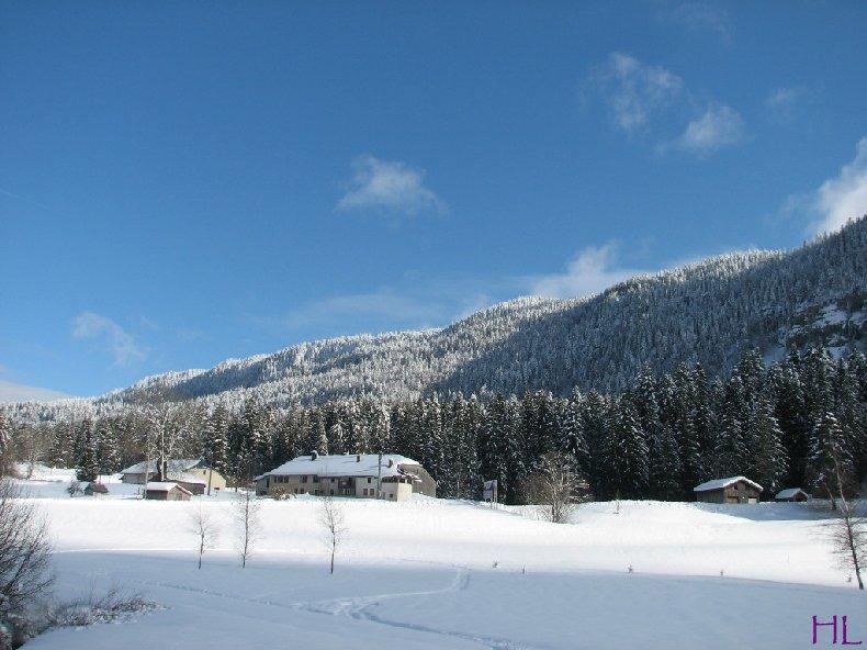 Dimanche de neige dans la vallée de la Valserine - 7 février 2010 0016